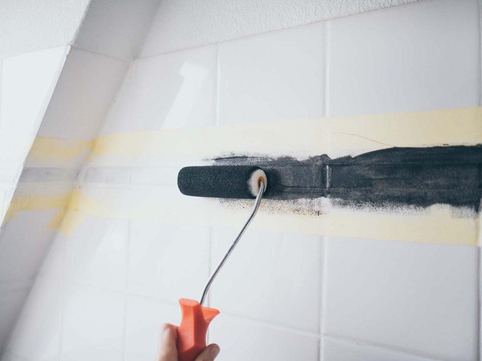 Diy Fliesen Streichen Im Bad Badezimmer Makeover Teil 2 Yeah Handmade