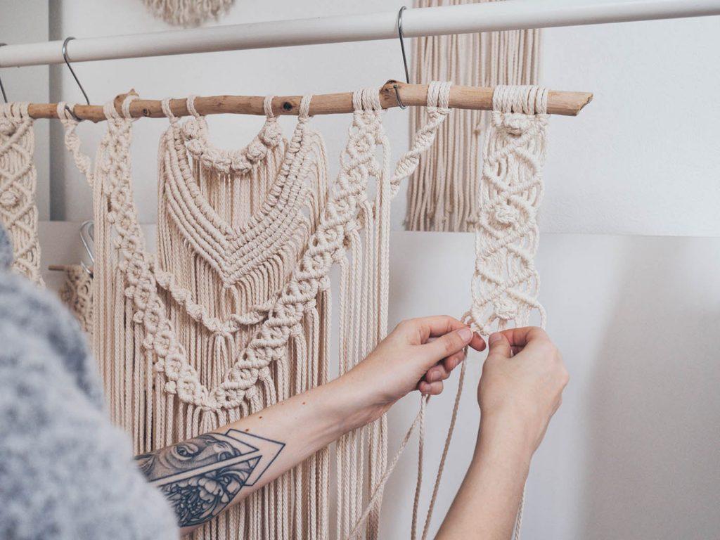 Großen Makramee Wandbehang selber machen, Schritt-für-Schritt für Anfänger