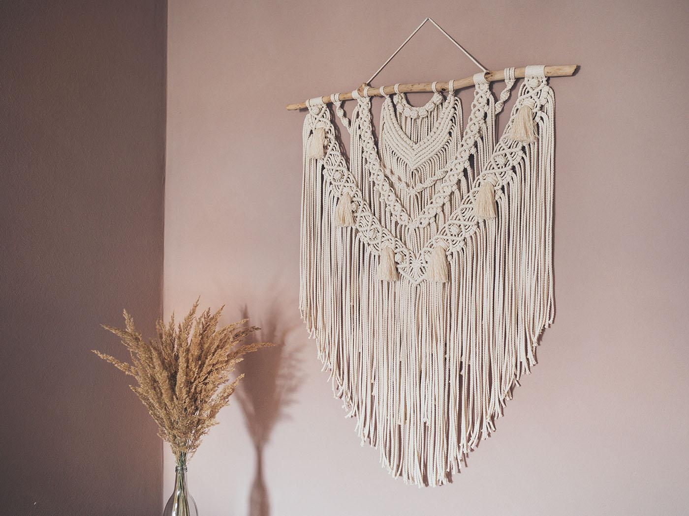 DIY Großen Makramee Wandbehang selber machen   Yeah Handmade